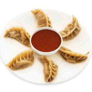 CHICKEN CHILLI MOMO